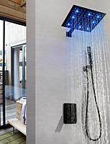 abordables -robinet de douche / robinet pour lavabo de salle de bain - peinture contemporaine led valve en laiton