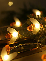 abordables -3M Guirlandes Lumineuses 20 LED Blanc Chaud Décorative Piles AA alimentées 1 set