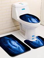 Недорогие -3 предмета Modern Коврики для ванны 100 г / м2 полиэфирный стреч-трикотаж Геометрический принт нерегулярный 2mm Ванная комната Cool