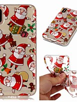 baratos -Capinha Para Apple iPhone XR / iPhone XS Max Transparente / Estampada Capa traseira Natal Macia TPU para iPhone XS / iPhone XR / iPhone XS Max