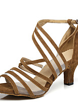 abordables -Femme Chaussures Latines Cuir Verni Talon Fantaisie Talon Bobine Chaussures de danse Noir / Jaune / Rouge