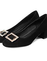 Недорогие -Жен. Комфортная обувь Замша Осень Обувь на каблуках На толстом каблуке Черный / Розовый