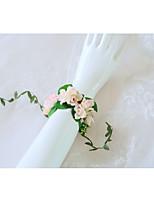 Недорогие -Свадебные цветы Букетик на запястье Свадьба / Свадебные прием Бусины / Кружево 0-10 cm