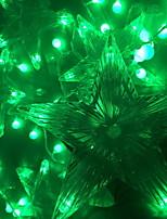 Недорогие -3M Гирлянды 60 светодиоды Зеленый Декоративная 220-240 V 1 комплект