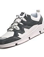 Недорогие -Муж. Комфортная обувь Полиуретан Осень Спортивные Кеды Нескользкий Белый / Черный / Серый