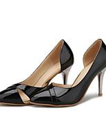 Недорогие -Жен. Балетки Полиуретан Лето Обувь на каблуках На шпильке Черный / Красный / Миндальный