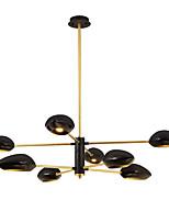 baratos -ZHISHU 8-luz Sputnik Lustres Luz Descendente Acabamentos Pintados Metal Cristal, Novo Design 110-120V / 220-240V Branco Quente / Branco Lâmpada Incluída