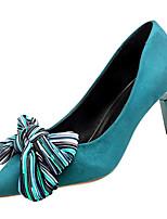 Недорогие -Жен. Балетки Полиуретан Осень На каждый день Обувь на каблуках На шпильке Заостренный носок Черный / Зеленый / Повседневные