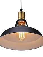 baratos -Diâmetro 30 cm luzes pingente de metal 1-luz de metal sombra sala de estar sala de jantar iluminação corredor