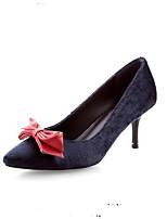 Недорогие -Жен. Комфортная обувь Конский волос Весна Обувь на каблуках На шпильке Черный / Красный