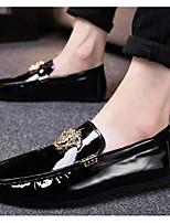 Недорогие -Муж. Комфортная обувь Полиуретан Весна & осень Мокасины и Свитер Черный / Серебряный