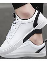 Недорогие -Муж. Комфортная обувь Полиуретан Весна & осень Кеды Белый / Черный / Красный