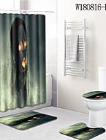 baratos -1conjunto Tradicional Tapetes Anti-Derrapantes Poliéster Elástico Tricotado 100g / m2 Inovador Retângular Banheiro Legal