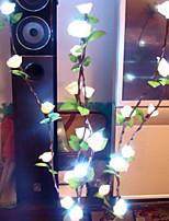 abordables -1m Guirlandes Lumineuses 20 LED Blanc Chaud Décorative 220-240 V 1 set