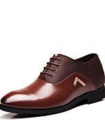 baratos -Homens Sapatos de couro Pele Outono & inverno Oxfords Preto / Marron