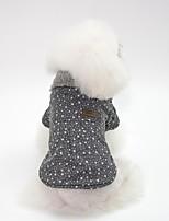 Недорогие -Собаки Плащи Одежда для собак Простой / Английский Серый / Розовый Хлопок Костюм Для домашних животных Универсальные Японский и корейский стиль / Наколенники