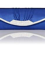 Недорогие -Жен. Мешки Шелк Вечерняя сумочка Кристаллы Белый / Черный / Светло-серый