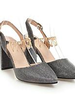 Недорогие -Жен. Комфортная обувь Полотно Весна Обувь на каблуках На шпильке Черный / Лиловый / Синий