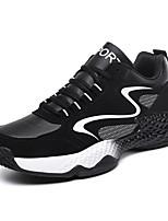 baratos -Homens Sapatos Confortáveis Sintéticos Outono & inverno Casual Tênis Respirável Estampa Colorida Branco / Preto / Preto / Vermelho / Black / azul