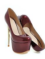 Недорогие -Жен. Балетки Лакированная кожа Весна Обувь на каблуках На шпильке Красный / Синий / Вино