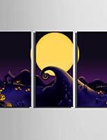 Недорогие -С картинкой Отпечатки на холсте - Пейзаж / Halloween Modern