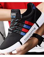 Недорогие -Муж. Комфортная обувь Трикотаж Весна & осень Кеды Черно-белый / Черный / Красный / Черный / синий