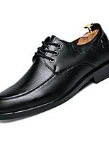 Недорогие -Муж. Комфортная обувь Полиуретан Осень Туфли на шнуровке Черный / Коричневый / Для вечеринки / ужина