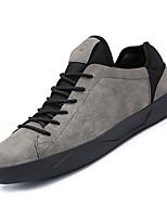abordables -Homme Chaussures de confort Daim Automne Décontracté Basket Respirable Noir / Gris / Marron