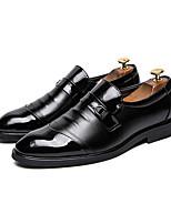Недорогие -Муж. Официальная обувь Кожа Наступила зима Деловые / На каждый день Мокасины и Свитер Для прогулок Сохраняет тепло Черный / Для вечеринки / ужина