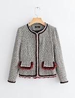 Недорогие -женская тонкая куртка - полка точка / сплошной цвет