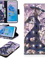 Недорогие -Кейс для Назначение Huawei Mate 10 lite / Huawei Mate 20 Pro Кошелек / Бумажник для карт / со стендом Чехол Животное Твердый Кожа PU для Huawei Nova 3i / Huawei P Smart Plus / Honor 7A