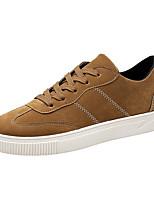 Недорогие -Муж. Комфортная обувь Полиуретан Осень На каждый день Кеды Дышащий Черный / Серый / Коричневый