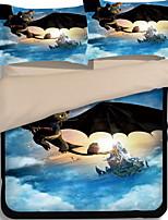 Недорогие -Пододеяльник наборы Геометрический принт Полиэстер Активный краситель 4 предметаBedding Sets / 4 шт. (1 пододеяльник, 1 простынь, 2 наволочки)