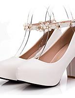 Недорогие -Жен. Балетки Полиуретан Весна Обувь на каблуках На толстом каблуке Черный / Лиловый / Розовый