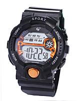 baratos -Homens Relógio Esportivo Digital 30 m Impermeável LCD Noctilucente Silicone Banda Digital Luxo Fashion Preta - Verde Azul Ouro Rose