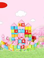 Недорогие -Конструкторы Числа Буквы Cool утонченный Взаимодействие родителей и детей деревянный Все Игрушки Подарок 1 pcs