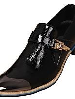 Недорогие -Муж. Официальная обувь Наппа Leather Осень Английский Мокасины и Свитер Водостойкий Золотой / Черный