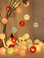 Недорогие -3M Гирлянды 20 светодиоды Разные цвета Декоративная / Праздник Аккумуляторы AA 1 комплект