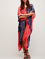 abordables -Femme Basique Encolure plongeante Rouge Shorts de Surf Vêtement couvrant Maillots de Bain - Géométrique / Bloc de Couleur Taille unique / Sexy