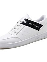 Недорогие -Муж. Комфортная обувь Полиуретан Весна & осень На каждый день Кеды Дышащий Белый / Черный / Черный / Красный