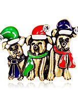 Недорогие -Жен. Классический Броши - Собаки Мультяшная тематика, европейский, Мода Брошь Золотой / Серебряный Назначение Рождество / Повседневные