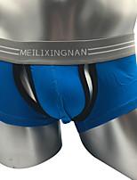 abordables -Homme Boxers Couleur Pleine Taille basse