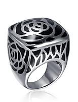 billiga -Herr Klassisk Ring - Rostfri Mode 7 / 8 / 9 / 10 Silver Till Dagligen Helgdag