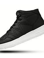 Недорогие -Муж. Комфортная обувь Полиуретан Осень Кеды Черный / Красный / Черно-белый