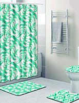 Недорогие -1 комплект Modern Коврики для ванны 100 г / м2 полиэфирный стреч-трикотаж Цветочный принт нерегулярный Ванная комната Очаровательный / Новый дизайн