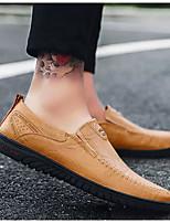 Недорогие -Муж. Комфортная обувь Микроволокно Весна & осень Мокасины и Свитер Черный / Темно-русый / Темно-коричневый