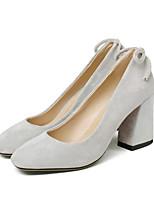 baratos -Mulheres Sapatos Confortáveis Microfibra Primavera Saltos Salto Robusto Preto / Cinzento / Rosa claro