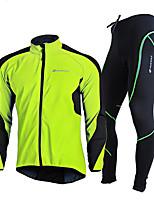 Недорогие -Велокофты и лосины - Красный / Зеленый / Синий Велоспорт С защитой от ветра, Зима Однотонный