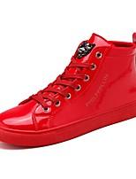 Недорогие -Муж. Комфортная обувь Полиуретан Осень Кеды Черный / Красный