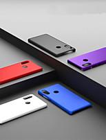 Недорогие -Кейс для Назначение Xiaomi Xiaomi Redmi 6 Pro / Redmi S2 Матовое Кейс на заднюю панель Однотонный Твердый ПК для Xiaomi Redmi Note 5 Pro / Xiaomi Redmi Note 6 / Xiaomi Redmi 6 Pro
